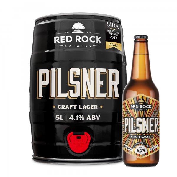 5L minikeg pilsner red rock brewery
