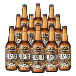 12x pilsner lager red rock brewery